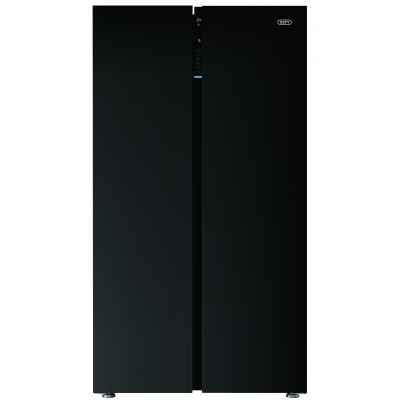 Defy DFF413 618L Black Glass Side-by-Side F790 Eco E G Fridge / Freezer