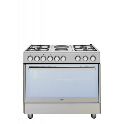 Defy DGS158 900mm Stainless Steel 4 Burner/ 2 Solid Plate Gas Electric Freestanding Oven