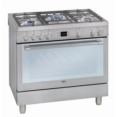 Defy DGS162 900mm Stainless Steel 5 Burner Gas Electric Freestanding Oven