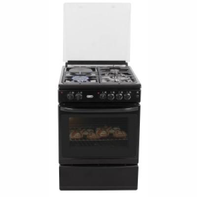 Defy DGS179 600mm Black 3 Burner/ 1 Plate 600 Series Gas Electric Stove