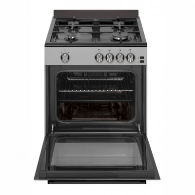 Defy DGS601 600mm Inox 4 Burner Gas New York Multifunction TurboGas Freestanding Oven