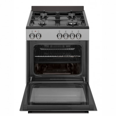 Defy DGS602 600mm Inox 4 Burner Gas/Electric Freestanding Oven