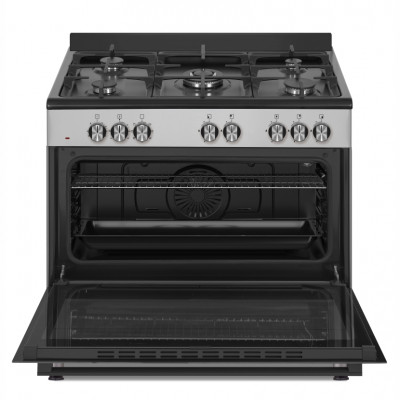 Defy DGS902 900mm Inox 5 Burner Gas/Electric New York Series Freestanding Oven