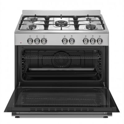 Defy DGS904 900mm Inox 5 Burner Gas/Electric New York Series Freestanding Oven