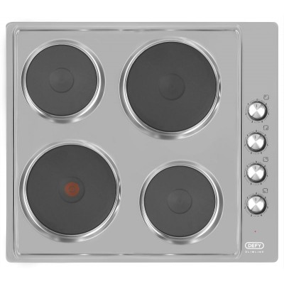 Defy DHD399 600mm S/Steel Slimline Solid Hob with CP