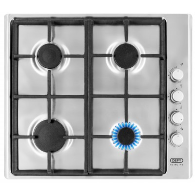 Defy 600mm 4 Gas Burner Stainless Steel Hob