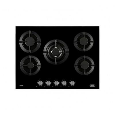 Defy DHG905 900mm Black 5 Burner Gemini Gas Hob