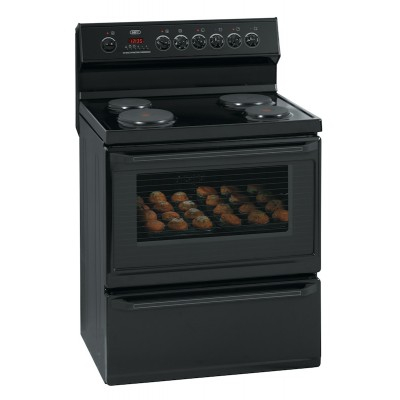 Defy DSS427 800mm Black 4 Solid Plate 800 Series Multifunction Electric Stove