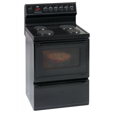Defy DSS449 700mm Black 4 Solid Plate 700 Series Multifunction Electric Stove