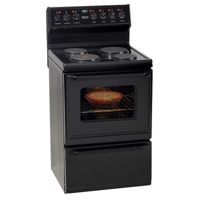 Defy DSS494 600mm Black 4 Solid Plate 600 Series Kitchenaire Electric Stove