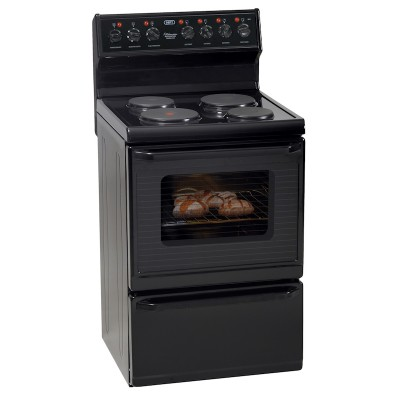 Defy DSS497 600mm Black 4 Solid Plate 600 Series Kitchenaire Electric Stove