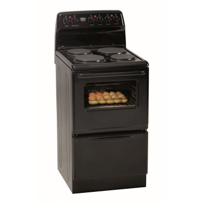 Defy DSS506 500mm Black 4 Solid Plate 500 Series Electric Stove