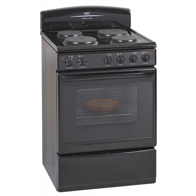 Defy DSS512 600mm Black 4 Solid Plate 600 Series Kitchenaire Electric Stove