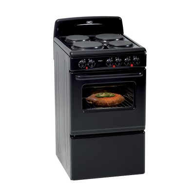 Defy DSS514 500mm Black 4 Solid Plate 500 Series Compact Electric Stove