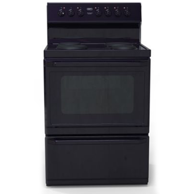 Defy DSS700 700mm Black 4 Plate 700 Series Electric Freestanding Oven