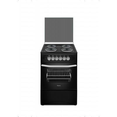Ferre F5C04E3.T.B 50x50 Black Free Standing 4 Plate Electric Oven