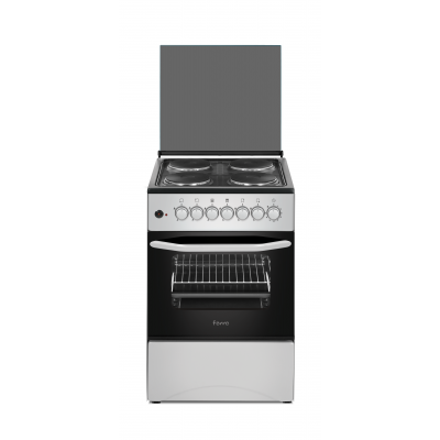 Ferre F5C04E3.T.S 50x50 Silver Free Standing 4 Plate Electric Oven