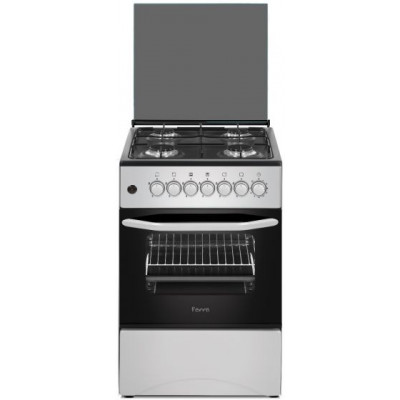 Ferre F5C40G1.S 50cm Stainless Steel Free Standing 4 Burner Gas Oven