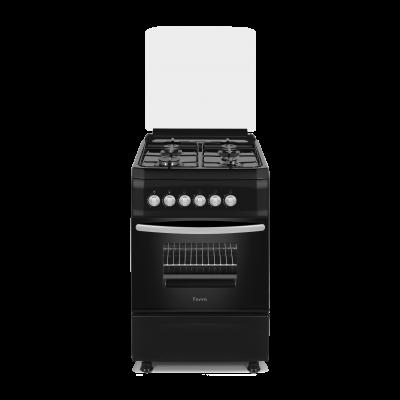 Ferre F5S40G2.FDI.B 50x60 Black Free Standing 4 Burner Gas Oven