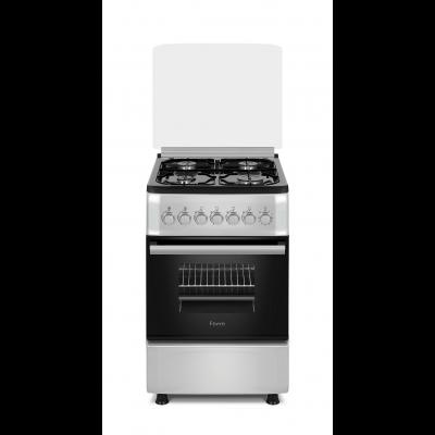 Ferre F5S40G2.FDI.S 50x60 Silver Free Standing 4 Burner Gas Oven