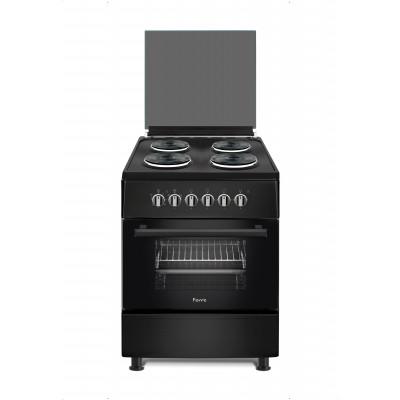 Ferre F6B04E3.TT.B 60cm Black Free Standing 4 Plate Electric Oven