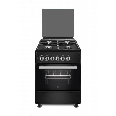 Ferre F6B40E3.FDIT.B 60cm Black Free Standing 4 Burner Gas/Electric Oven