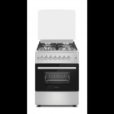 Ferre F6B40E3.FDITCG.SI 60cm Silver Free Standing 4 Gas/Electric Oven