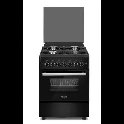 Ferre F6B04G2.MB 60cm Matt Black 4 Burner Gas Freestanding Oven