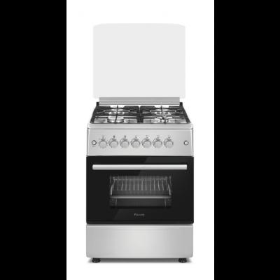 Ferre F6B04G2.SI 60cm Inox 4 Burner Gas Freestanding Oven