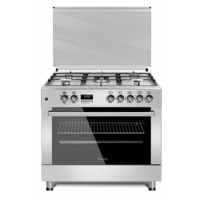 Ferre F9S50E3.FDIDTLC.I 90cm Stainless Steel Free Standing 5 Burner Gas/Electric Oven