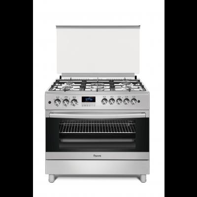 Ferre F9S50G2.FDIDTLC.I 90cm Stainless Free Standing 4 + 1 Wok Burner Gas Oven