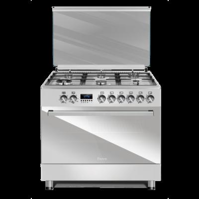 Ferre F9S60E6.PI 2020 90x60 Inox 6 Burner Gas/Electric Freestanding Oven Premium