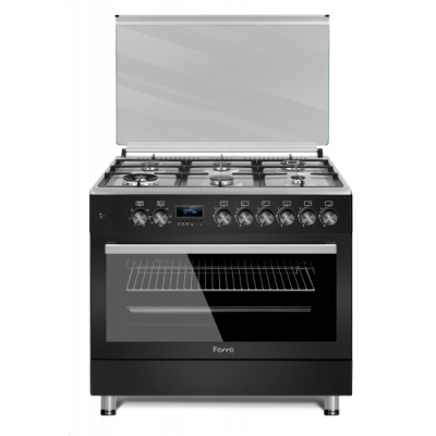 Ferre F9S60E6.PIB 2020 90x60 Matt Black 6 Burner Gas/Electric Freestanding Oven Premium