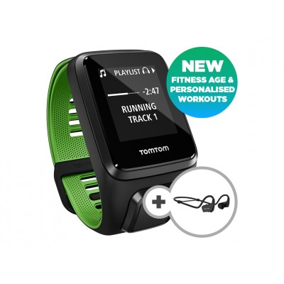 TomTom Runner 3 Cardio/Music/Headphones Black/Green