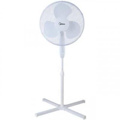 """Midea 16"""" Anti Wobble Floor Fan - White"""