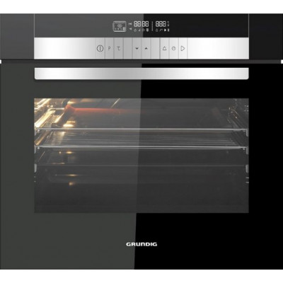 Grundig GEBM 35000 B 700mm Black Glass Single Multifunction Built-In Oven