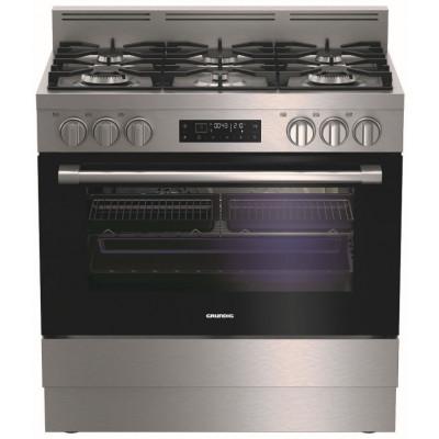 Grundig GFLM14020XC 900mm 6 Burner Stainless Steel Gas/Electric Freestanding Oven
