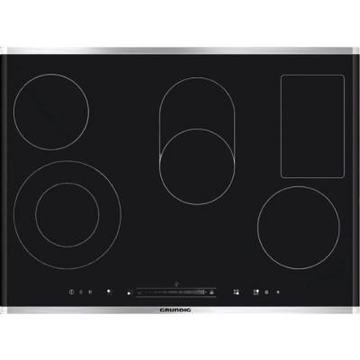 Grundig GIEV 824530 X 800mm Black 5 Plate Vitroceramic Hob