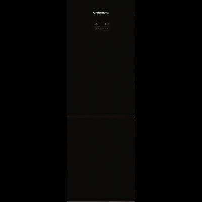 Grundig GKN 16820 GB 318L Black Glass Combi Fridge Freezer