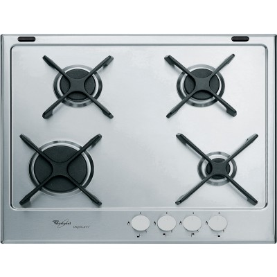 Whirlpool 600mm Stainless Steel Gas Hob