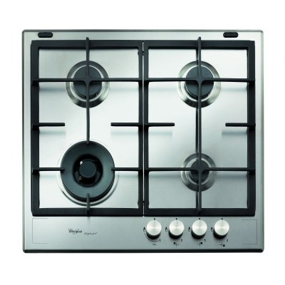 Whirlpool GMA 6422 /IX 600mm iXelium™ Stainless Steel 4 Burner Gas Hob