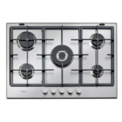 Whirlpool 750mm Dial Controls Gas Hob