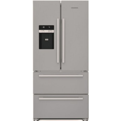 Grundig GQN 1232 X 530L Stainless Steel French Door Side-By-Side Fridge Freezer