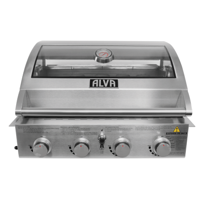 Alva GSS4BTT Mojave 4 Burner Stainless Steel Build-In Gas Braai