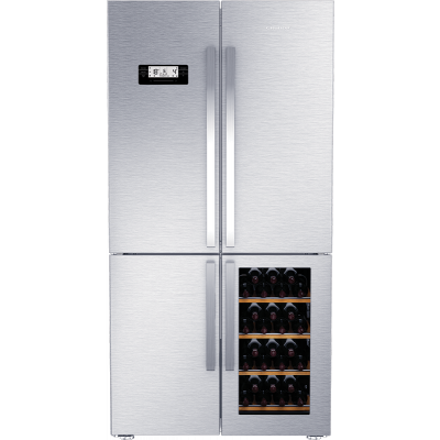 Grundig GWN21210 X 519L Stainless Steel Side-By-Side With  Wine Cooler Fridge Freezer