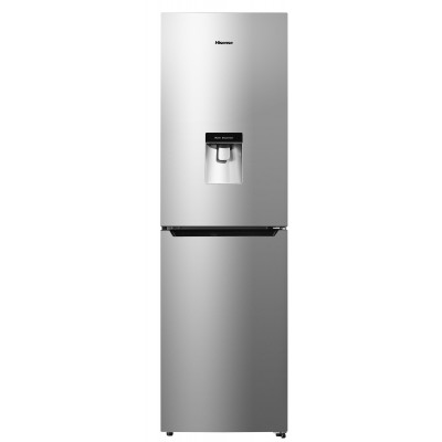 Hisense 264L Inox Combi Fridge With Water Dispenser