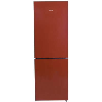 Hisense 323L Red Glass Combi Fridge