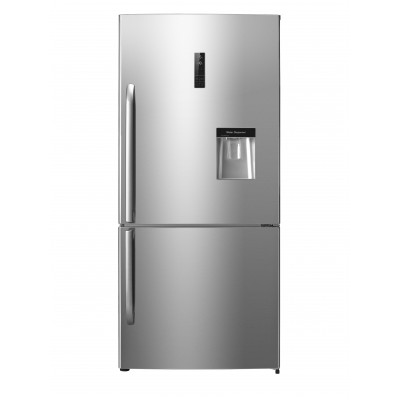 Hisense Inox Combi Fridge With Water Dispenser