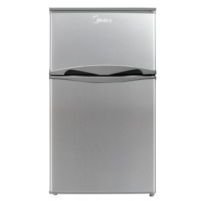 Midea 87L Net A+ Dbl/Door Bar Fridge Silver