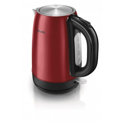 Philips HD9322/60 Stylish Red Coloured Metal Electric Kettle